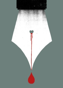 scripturient - possessing a violent desire to write.